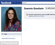 The Facebook page Bobby set up of his mother Joannie Goodwin