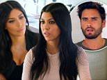 Kim Kardashian , Kourtney Kardashian, Scott Disick