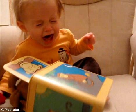 Devastated: the poor child howls and shrieks