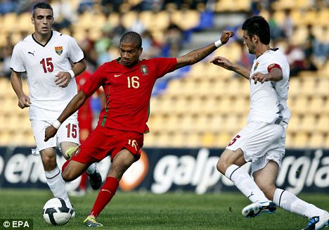 Tough break: Bebe was injured playing for Portugal U21s