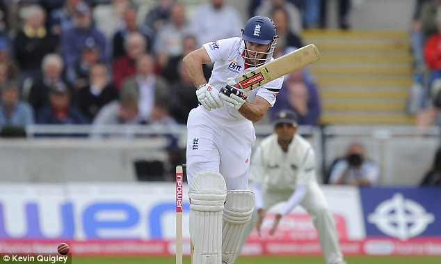 Fifty: Strauss became the second captain to reach his half century