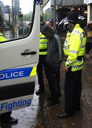 A suspect is arrested in Manchester today