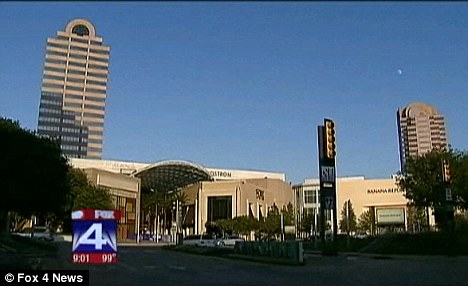 Tragic: It is now known whether the man, in his 40s, jumped or fell from the top floor of the Galleria in Dallas Parkway, north Dallas