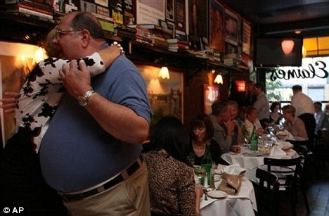 Special place: Elaine's Restaurant was renowned for having a real 'New York atmosphere' for all the time it was opened over 48 years
