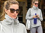EXCLUSIVE TO INF. \nNovember 19, 2015: Gisele Bundchen leaves the gym in Boston, Massachusetts this morning after a tough workout. Bundchen can be seen with sweat stains on her leggings.\nMandatory Credit: INFphoto.com Ref: infusbo-10