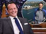 """NEW YORK, NY - JUNE 19:  Actor Vince Vaughn visits """"The Tonight Show Starring Jimmy Fallon""""at Rockefeller Center on June 19, 2015 in New York City.  (Photo by Mike Coppola/NBC/Getty Images for """"The Tonight Show Starring Jimmy Fallon"""")"""