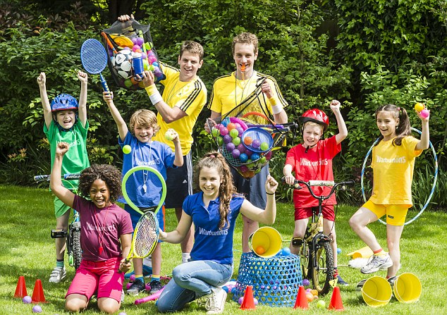 Fun competition: The Brownlee brothers recommend families hold their own Commonwealth Games in their gardens this summer