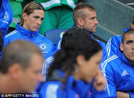 Troubled: Fernando Torres (top right) has struggled at Chelsea