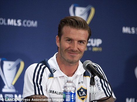 Up for the cup: Beckham has lifted the profile of the MLS