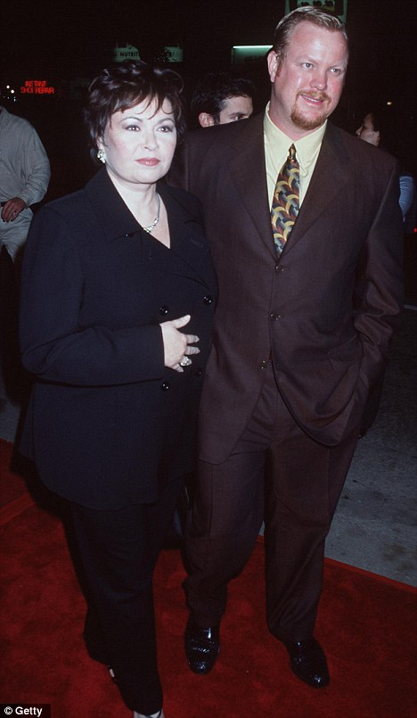 Happy days: Roseanne was married to her former bodyguard from 1995 to 2002