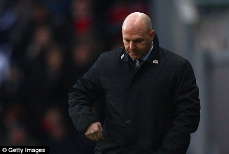 Under pressure: Steve Kean is under continued pressure from the fans and now sections of the local media