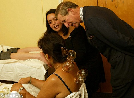 Royal approval: Prince Charles at the NHS Gateway Clinic and Chinese Herbal Medicine Centre, in Lambeth, south London