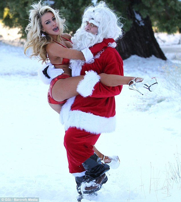 Tis the Season: To subvert a benevolent childhood hero, if you're Doug Hutchison and Courtney Stodden - the pair visited the Angeles National Forest on Friday