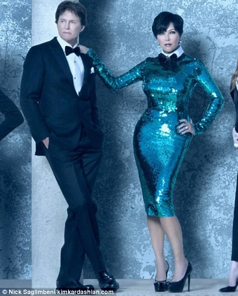 Mr and Mrs: Bruce and Kris Jenner put on their best 'Blue Steel' poses