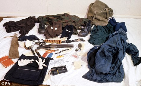 Among the items found on Neilson when he was arrested is a shotgun, centre, which he is believed to have carried round with him at all times and used indiscriminately