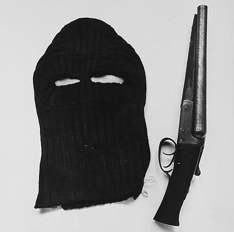 The balaclava and shot gun that were found on Donald Neilson when he was arrested