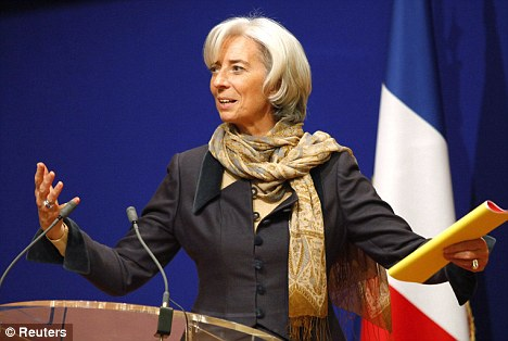 Runner-up: France's Economy Minister Christine Lagarde came in second place