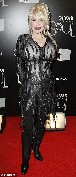 She's till got it! Dolly Parton arrived at the VH1 Divas Celebrates Soul event in New York last night in a sheer bejewelled leather creation