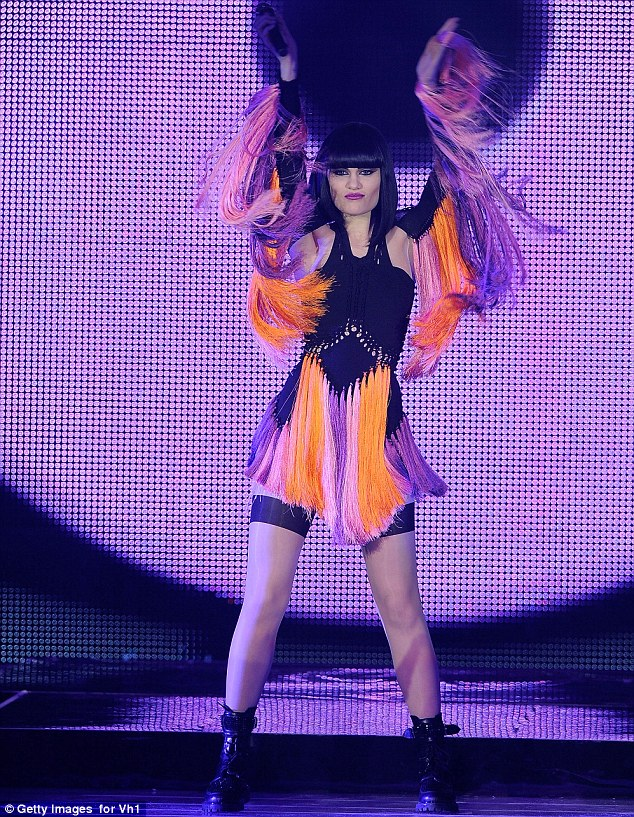 VVibrant: The hit-maker later took to the stage wearing cut-out dress with multi-colored fringe