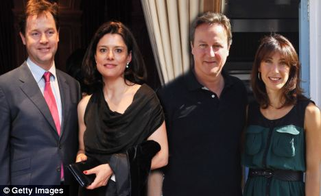 Direct challenge: Nick Clegg and wife Miriam