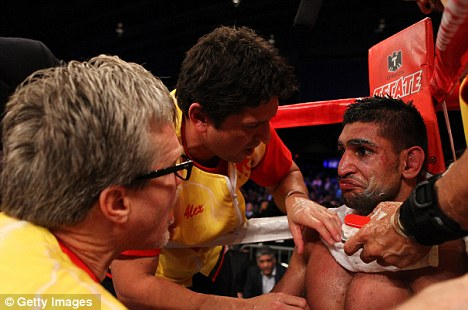 Bring it on: Khan is desperate for another shot at Peterson for his next fight