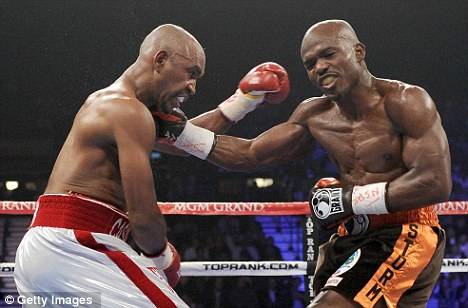 Up next: Timothy Bradley (right) could be set to take on Peterson