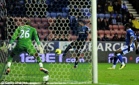 Bright start: Daniel Sturridge had opened the scoring for Chelsea at Wigan