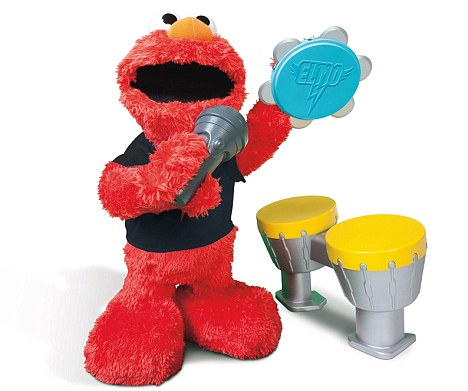 Loud: Researchers found the popular Let's Rock Elmo gift could risk permanent hearing damage by misuse