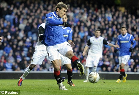 Wanted man: Jelavic's exploits in front of goal are raising interest from English clubs