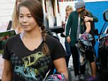UK CLIENTS MUST CREDIT: AKM-GSI ONLY\nEXCLUSIVE: Hollywood, CA - Derek Hough and Bindi Irwin end another practice at the 'Dancing With The Stars' dance studio in Hollywood.\n\nPictured: Bindi Irwin Derek Hough\nRef: SPL1180030  181115   EXCLUSIVE\nPicture by: AKM-GSI / Splash News\n\n