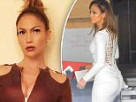 """Jennifer Lopez shows off her famous curves in a white tight dress for hollywood week on """"American Idol"""" final seasona taping in Los Angeles Ca.\nFeaturing: Jennifer Lopez\nWhere: Studio City, California, United States\nWhen: 20 Nov 2015\nCredit: Cousart/JFXimages/WENN.com"""