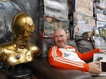 Star Wars superfan Dave Oldbury, who is offering fellow fans the chance to stay at his home in Southampton, with some of his memorabilia collection