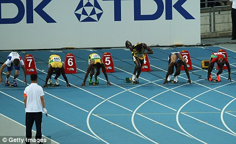 Bolted too early: The crowd in Daegu were robbed of the chance to see Usain Bolt