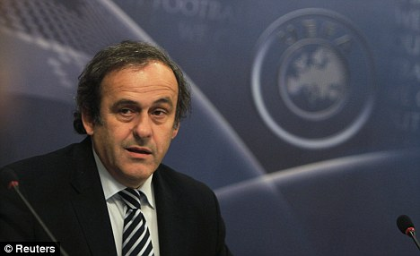 MIxed messages: Mr 'Financial Fair Play' has welcomed the Qatari money at PSG