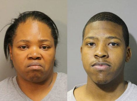 Charged: Cynthia Greenwood (left) is in court over allegations she took her 12-year-old daughter to have an abortion after her 18-year-old son Isaac (right) raped her and got her pregnant