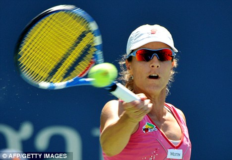 Outclassed: Nuria Llagostera Vives was soundly beaten by the world No 1