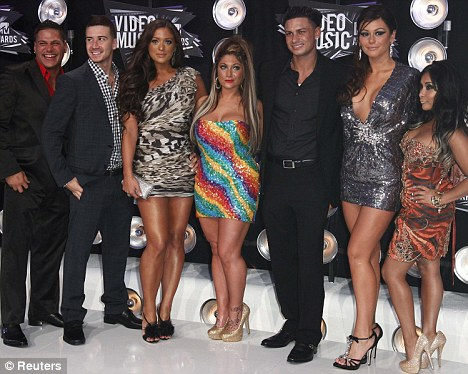 Big night out: Pauly's outing comes after the Italian stallion appeared at the MTV Video Music Awards with the rest of the Jersey Shore cast over the weekend