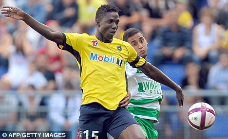 Held up: Modibo Maiga's move to Newcastle hinges on Sochaux signing Leeds ace Max Gradel
