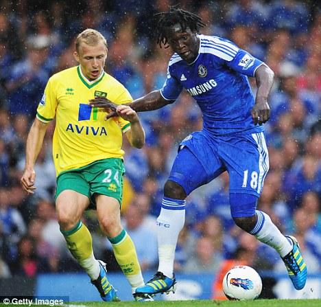 Big target: Romelu Lukaku made his debut against Norwich