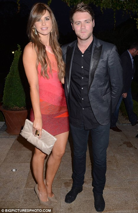 Glam: Brian McFadden and his girlfriend Vogue Williams arrive at the Marie Keating Foundation celebrity golf classic dinner at The K Club in Straffan, Co. Kildare