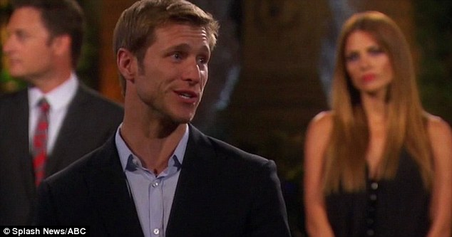 Goodbye from me: Jake Pavelka's exit speech was screen last night on Bachelor Pad, with him telling ex Vienna he forgave her and telling her new love interest Kasey it was great to meet him