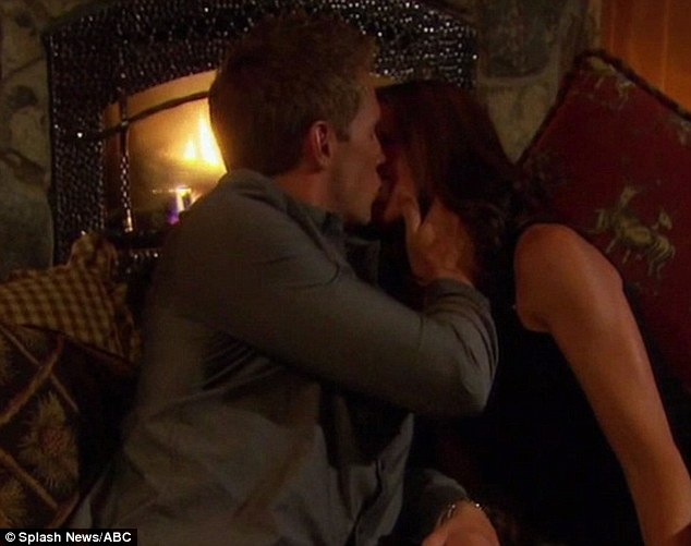 What a charmer: Blake was the male winner of the kissing competition and he took Holly on a skiing date