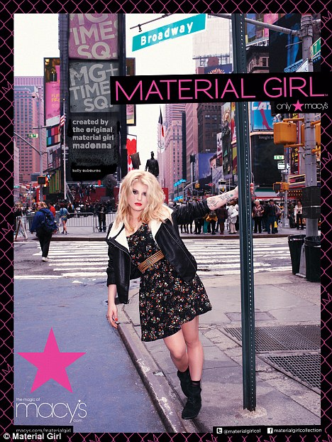 Spokeswoman: Kelly is in Canada to promote the new collection of Material Girl