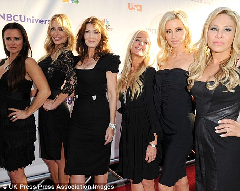 The cast: From left Kyle Richards, Taylor,  Lisa Vanderpump, Kim Richards, Camille Grammer and Adrienne Maloof. All the housewives apart from Taylor have taken part in the special programme