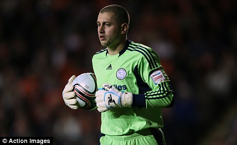Hands on: Derby keeper Frankie Fielding has been called in by Capello to replace injured Green
