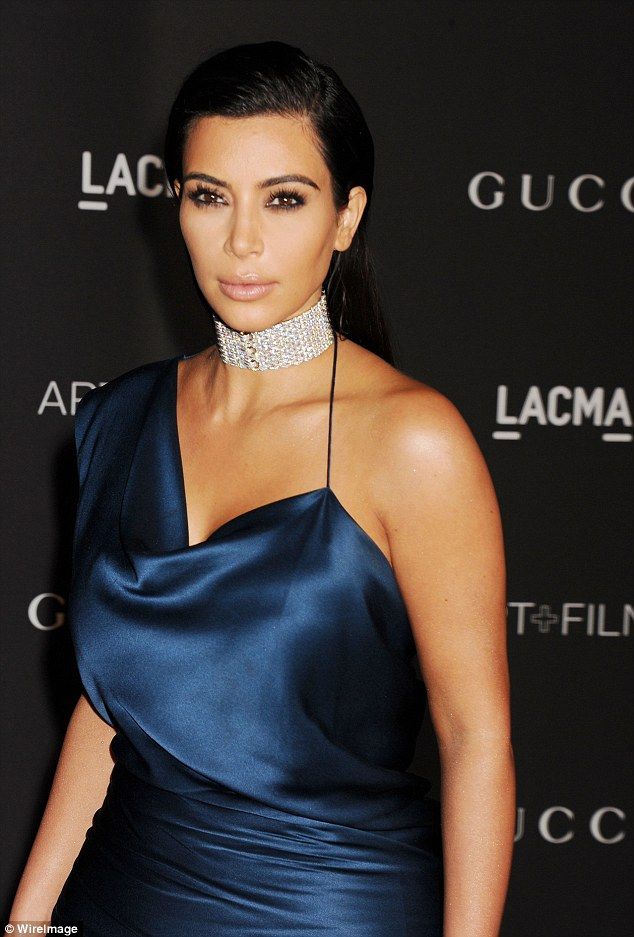 She loves it: 'This pregnancy, I would love a Lorraine Schwartz diamond choker, like the ones I've worn before to the Art + Film Gala,' the Keeping Up With The Kardashians standout wrote