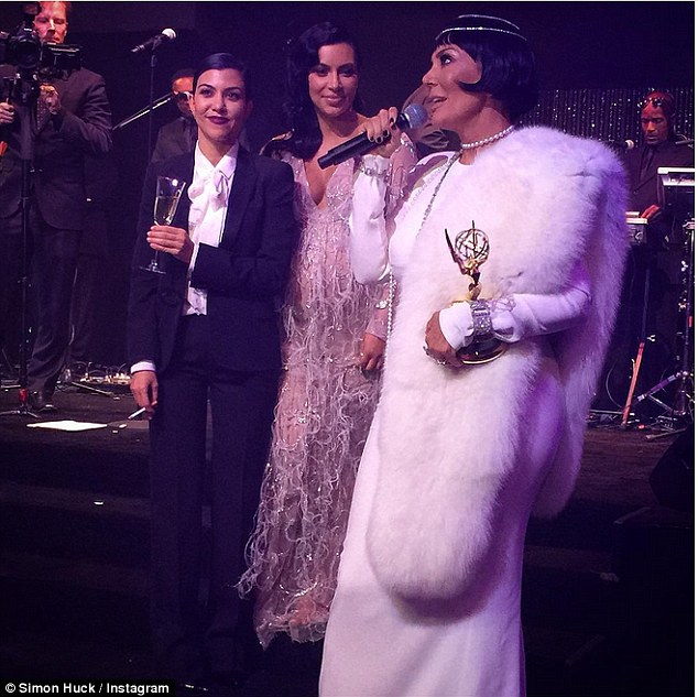 Cheers! Earlier this month, the 13-time Grammy nominee made a cameo in the birthday video presented to the Keeping Up with the Kardashians matriarch during her Great Gatsby-themed party