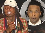Rapper Lil Wayne performed at Compound nightclub in Atlanta before one of his tour buses was involved in a scary shoot out in the early hours of Sunday (april 26). The hip hop star was on one of his two buses alongside fellow artists Lil Twist and Hood, although it's unclear whether it was the vehicle sprayed by bullets. It's understood no one was injured but cops are investigating. Also present at the party was Lil Wayne's son's mother Sarah Vivan. The multi-millionaire ad boy was seen surrounded by fans and smoking a suspicious looking roll up cigarette.....Pictured: lil wayne..Ref: SPL1005430  260415  ..Picture by: Prince Williams / Splash News....Splash News and Pictures..Los Angeles: 310-821-2666..New York: 212-619-2666..London: 870-934-2666..photodesk@splashnews.com..