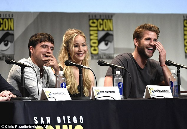 In stitches: The actors seemed to be having a blast onstage as they were spotted laughing hysterically throughout the panel