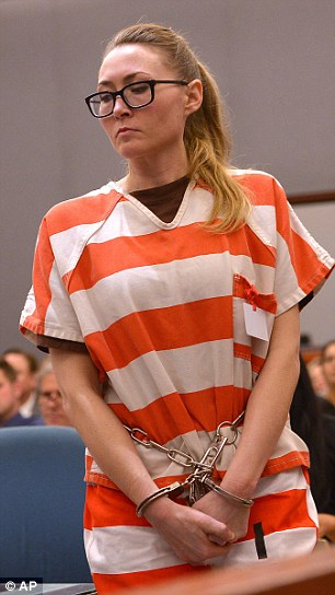 Made promises: Altice, pictured on Thursday, sent a handwritten letter to Judge Thomas Kay last month asking him not to send her to prison. She said she's harmless, and promised she wouldn't repeat the crime